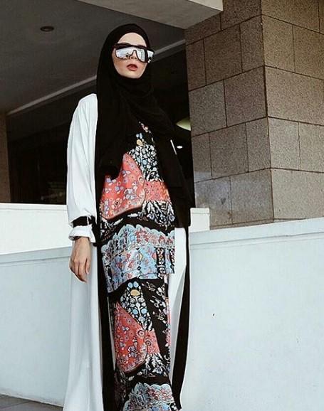 Model Baju Gamis Pakai Blazer Panjang Hijabfest