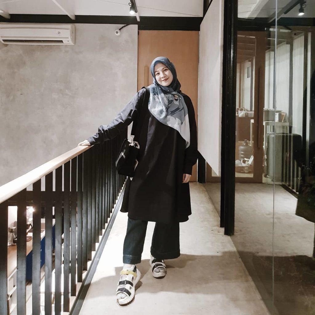 11 Model Baju Muslim untuk Orang Gemuk  Gamis