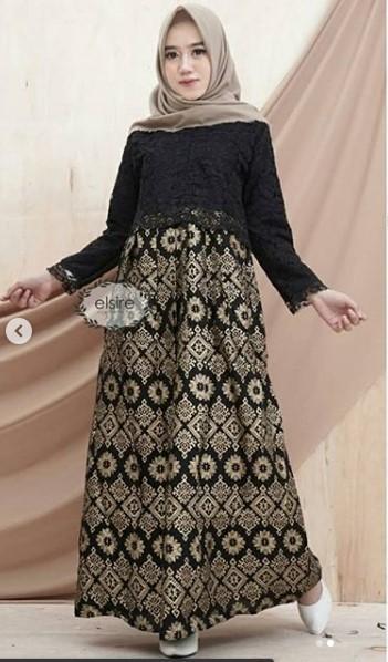 16 Model Baju Gamis Brokat Terbaru 2019 Gamis