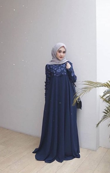 Model Baju Gamis Ibu Hamil Gambar Islami