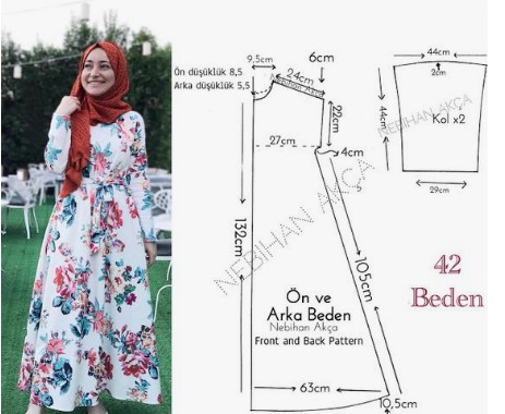 Cara Membuat Pola Baju Gamis