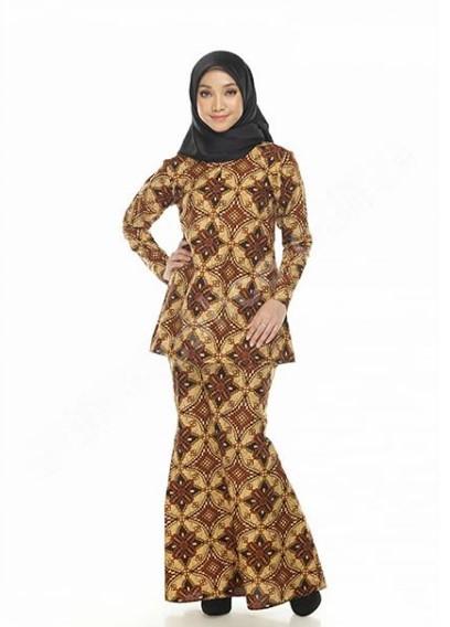 22 Koleksi Baju Muslim Batik Modern 2019 Gamis