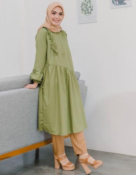 15 Model Baju Muslim Kekinian Gamis