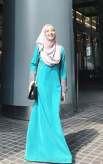 14 Padu Padan Baju Muslim Dan Gamis Warna Hijau Tosca Gamis