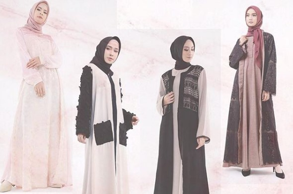 23 Model Baju Muslim Abaya Modern Gamis
