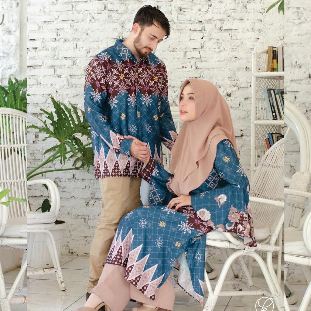 model baju muslim batik couple simple1