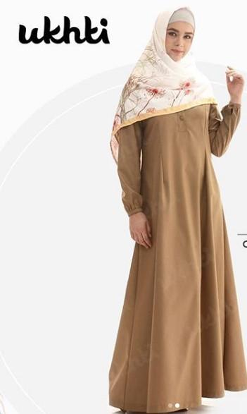 12 Model Baju Dinas Guru Wanita Modern Gamis