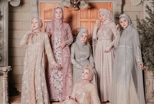 14 Model Kebaya Muslim Pesta Terbaru Gamis