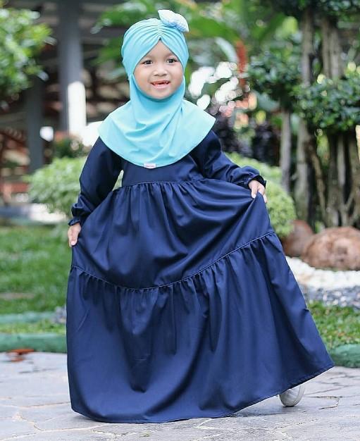 trend model baju gamis syari untuk anak anak gamis ruffle