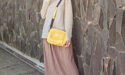 OOTD Hijab Casual Rok Plisket Dengan Pakaian Kece